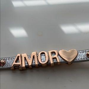 BCBGeneration Amor rose gold and silver bracelet